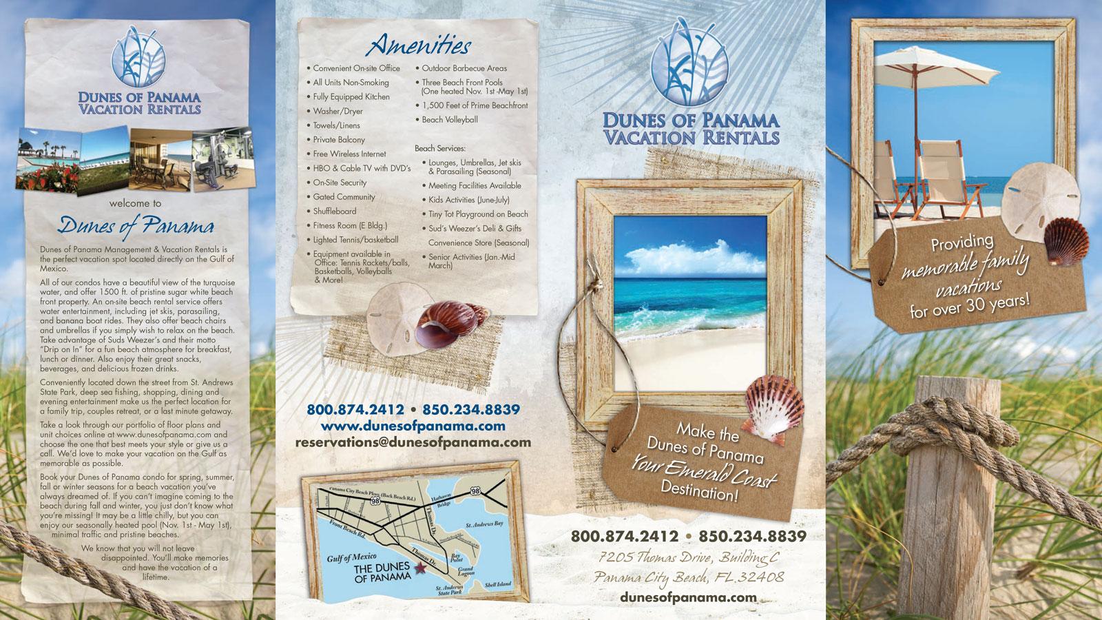 The Dunes of Panama Vacation Rentals Brochure