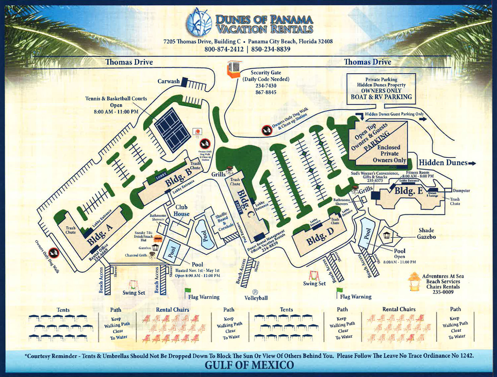 Dunes Of Panama Map