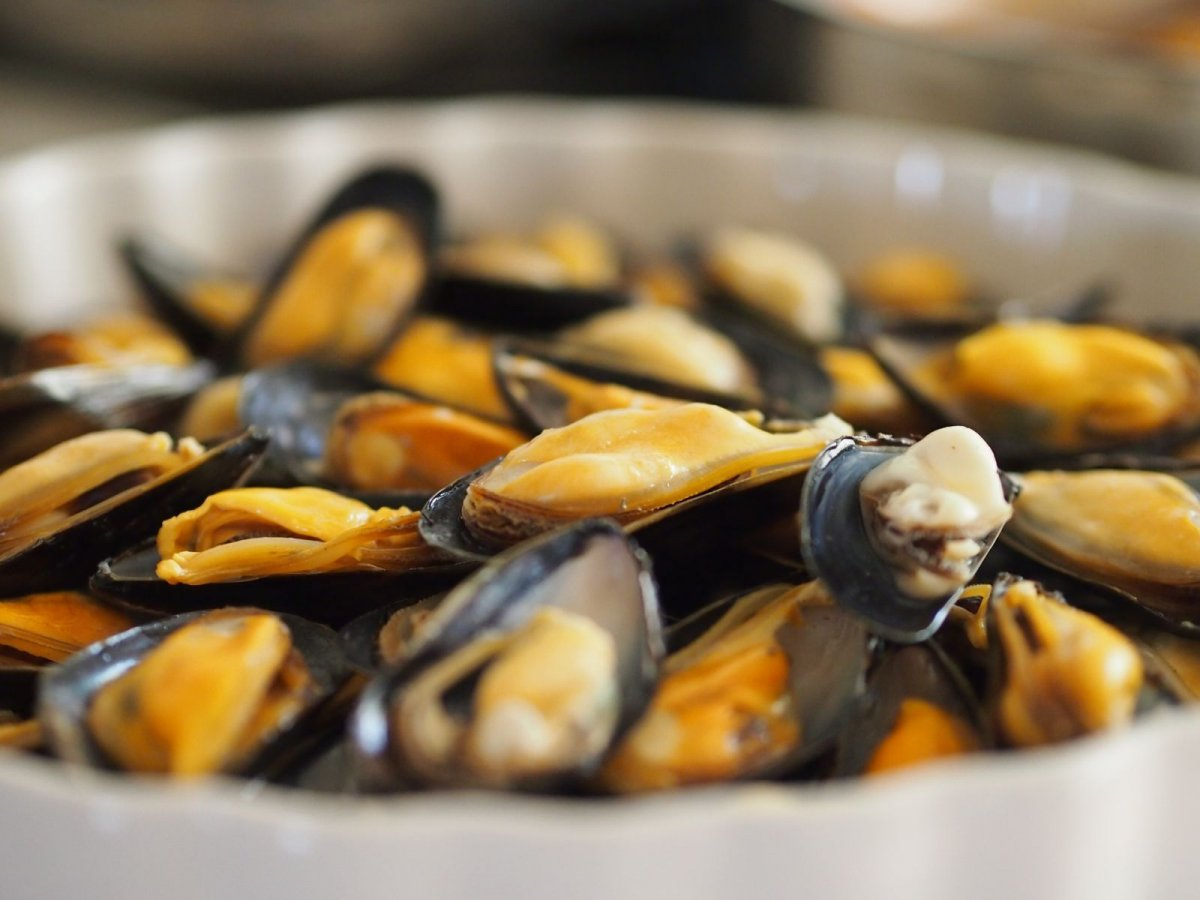 mussels at a seafood restaurant